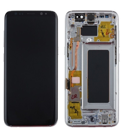 LCD SAMSUNG Galaxy S8 G950F + Touch + Frame Silver Orig