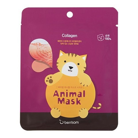 BERRISOM КОТ Тканевая маска для лица Беррисом серии т - Animal mask series Cat