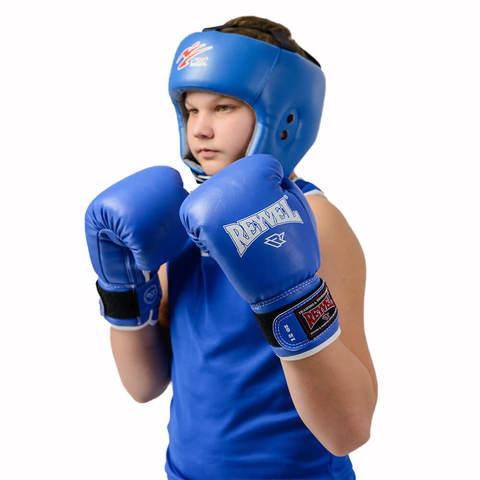 Перчатки боксерские Reyvel RV-101 синие
