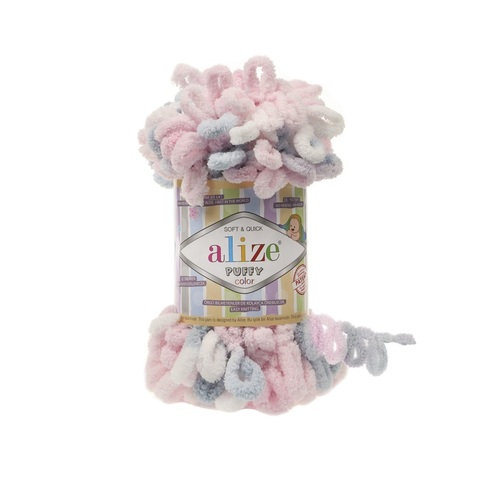 Пряжа Alize Puffy Color цвет 5864
