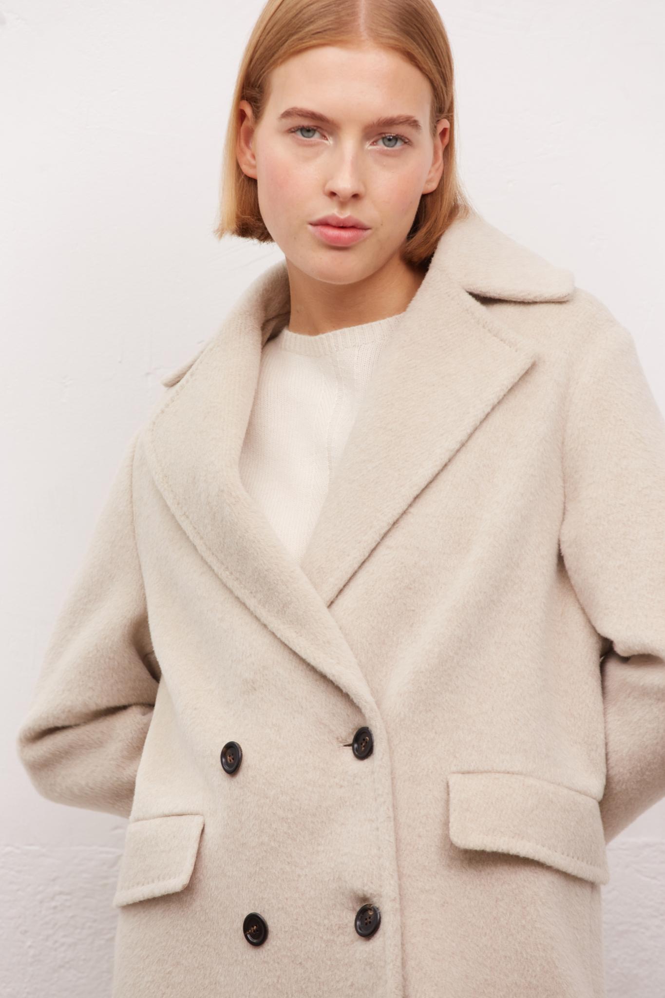 STEFANY - Пальто из шерсти альпаки
