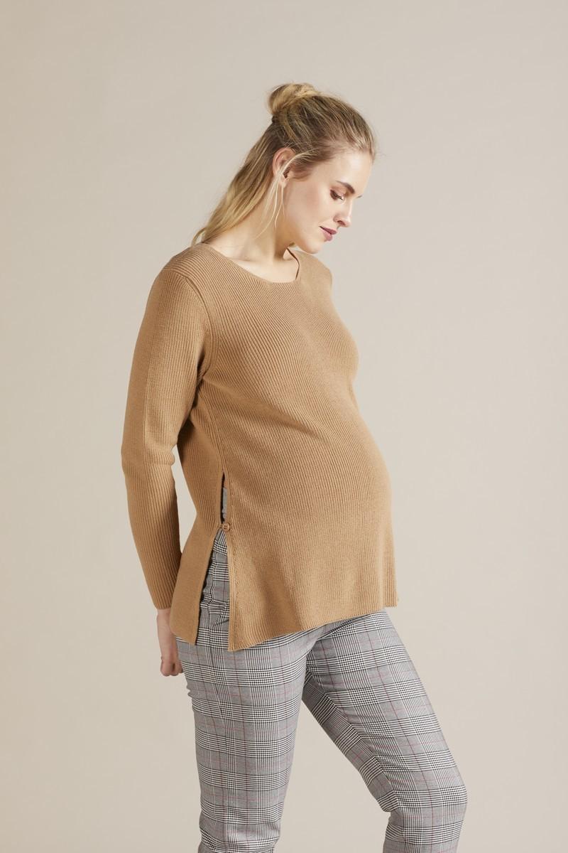 Джемпер для беременных 09742 кэмел