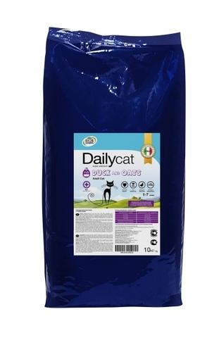 Dailycat Adult Duck and Oats сухой корм для взрослых кошек с уткой и овсом 10 кг