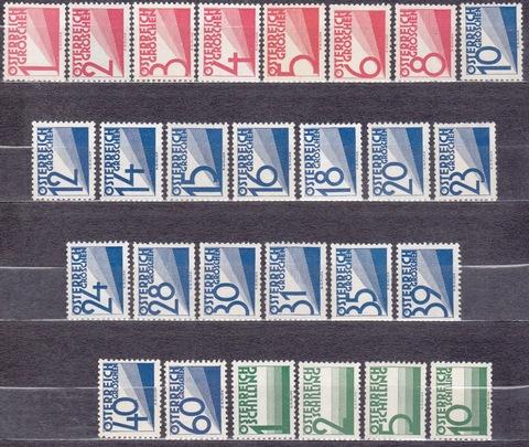 Австрия 1925 порто № 132-158 **MNH