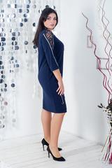 Ельга. Нарядне плаття великих розмірів. Синій