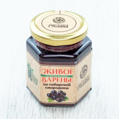 Варенье из Черной смородины на березовом соке, 250г. (РУСЛАНА)