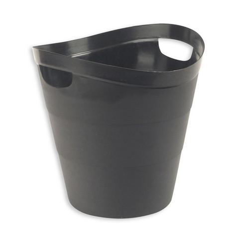 Корзина для мусора с ручками Uniplast 12 л пластик черная (29х30 см)