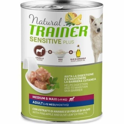 Trainer Natural Sensitive Plus влажный корм для собак средних и крупных пород с кониной и рисом - 400 г