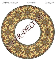 Эскиз для росписи, Зеркало диаметр 29см, SMAR-zmk-16
