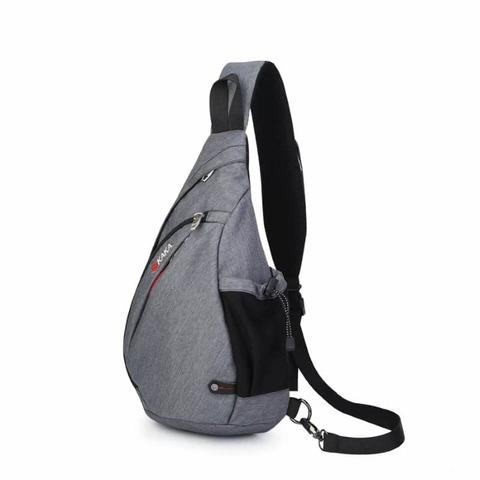 Рюкзак однолямочный повседневный КАКА 99001 серый