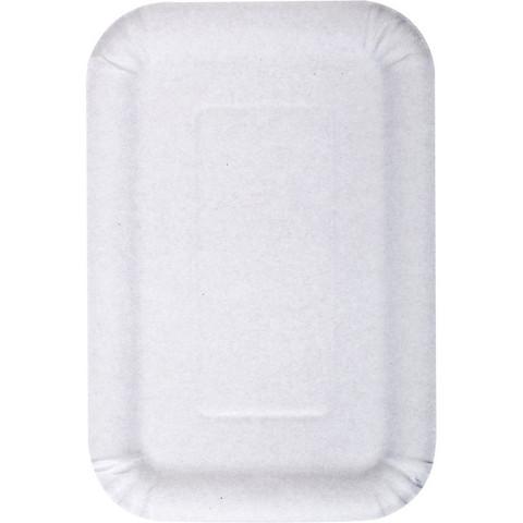 Тарелка одноразовая бумажная белая 140x210 мм 100 штук в упаковке