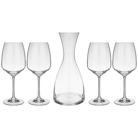 Набор для вина из декантера и 4 бокалов Giselle , 1200 мл/455 мл
