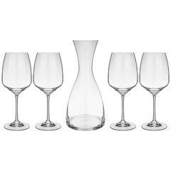 Набор для вина из декантера и 4 бокалов Giselle , 1200 мл/455 мл, фото 1