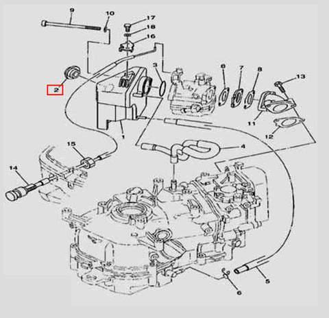 Уплотнитель для лодочного мотора F5 Sea-PRO(6-2)