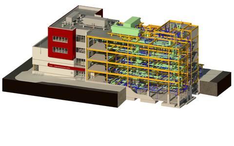 Разработка BIM моделей проектируемых объектов, увязка всех разделов документации в одной 3D модели с проверкой на пересечения и коллизии