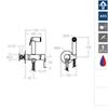 Гигиенический душ с магнитным клапаном перекрытия ATICA 756801WC - фото №2