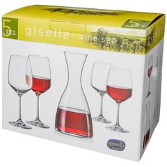 Набор для вина из декантера и 4 бокалов Giselle , 1200 мл/455 мл, фото 2
