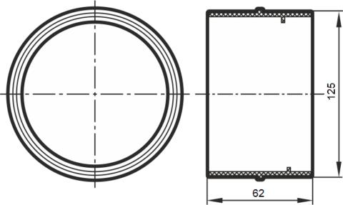 Соединитель- муфта 125 мм