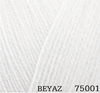 Пряжа Himalaya Angel 75001 (Белый)