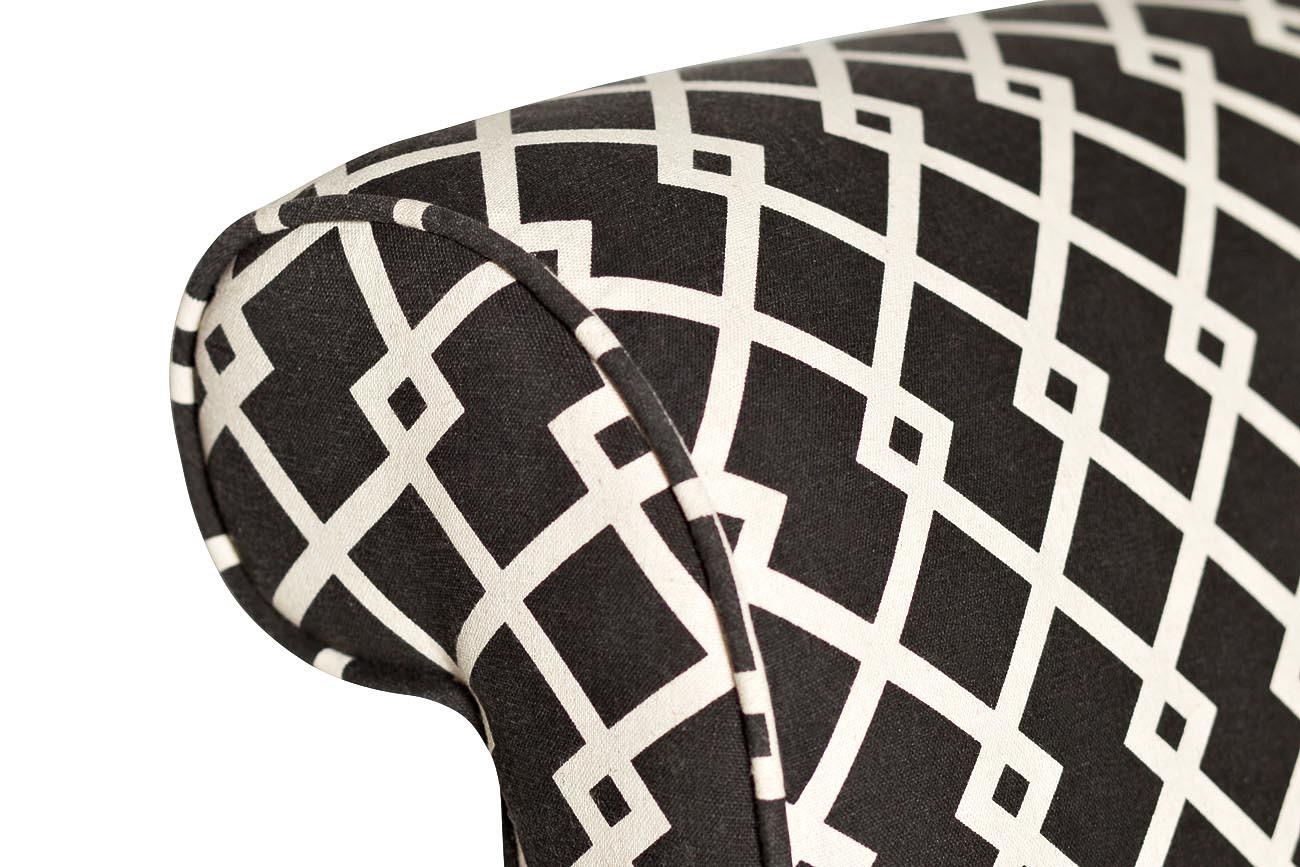 Кресло черно-белое (лён) (DY-734) Garda Decor