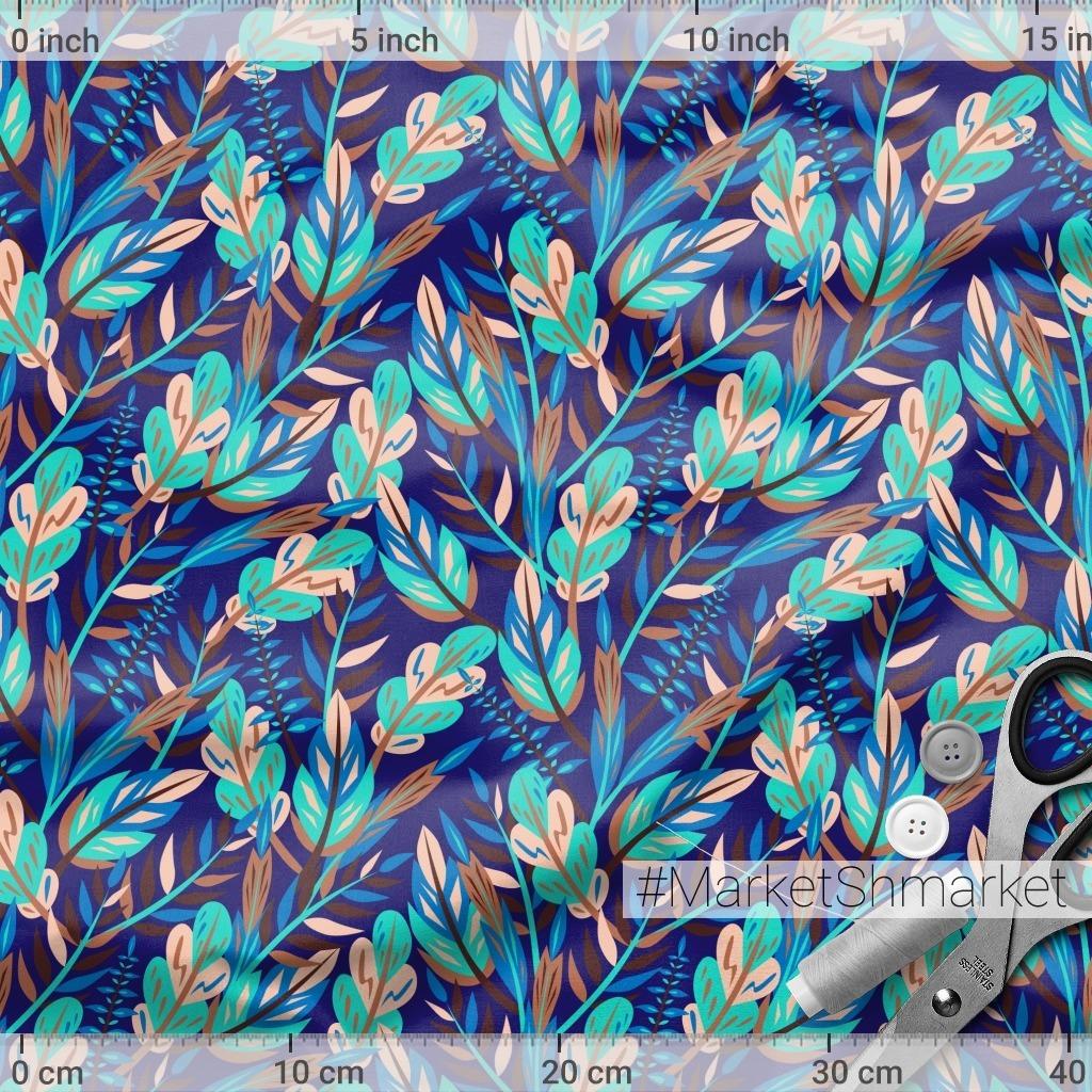 Листва в синеве. Летние растения