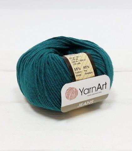 Пряжа YarnArt JEANS - (63-морская волна)