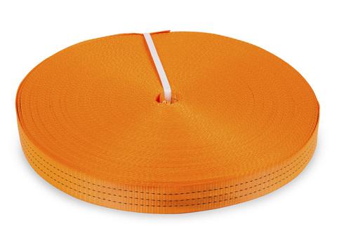Лента текстильная для ремней TOR  50 мм 4500 кг (оранжевый) 100 метров