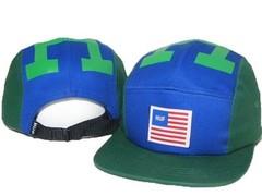 Кепка HUF (Бейсболка Хаф) зелено-синяя
