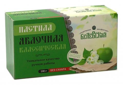 Пастила Белёвская яблочная классическая без сахара, 100 г
