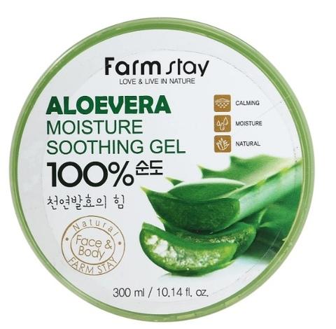 Многофункциональный гель с экстрактом алое вера FARMSTAY Aloevera Moisture Soothing Gel