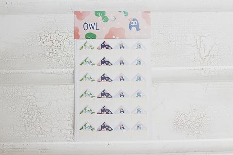 Уголки Owly Pink