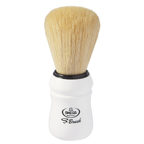 Помазок для бритья Omega синтетика белая ручка S10049