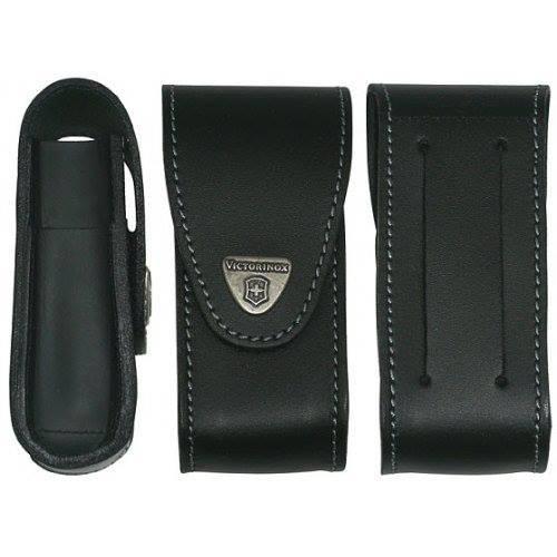 Чехол кожаный с дополнительными отделениями для широких ножей Victorinox 111 мм. (4.0524.32) - Wenger-Victorinox.Ru