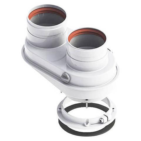 Присоединительный элемент котла Viessmann с 60/100 мм на 80/80 мм (нержавеющая сталь)