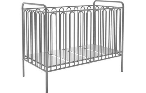 Кроватка детская Polini kids Vintage 150 металлическая, серебро