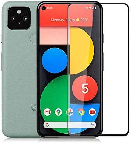Защитное стекло 5d для Google Pixel 5 (Full Glue полная проклейка, черная рамка)