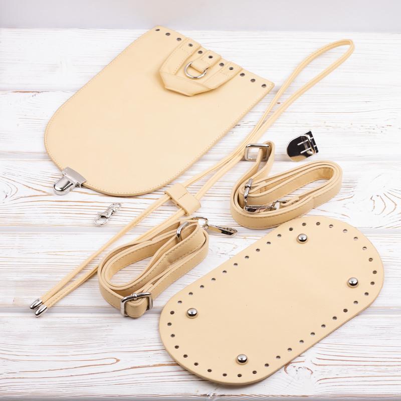 Комплекты из экокожи Комплект для рюкзачка из экокожи Кремовый IMG_6680.jpg