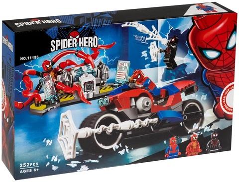 Конструктор Supreme Heroes Spider Hero Спасательная операция на мотоциклах 11186, 252 дет.