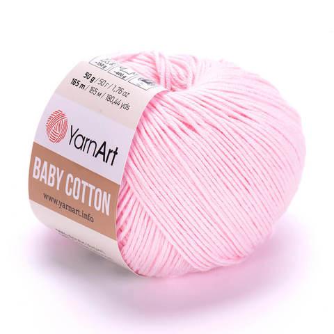 Пряжа Baby Cotton (Бэби Котон) Светло-розовый. Артикул: 410