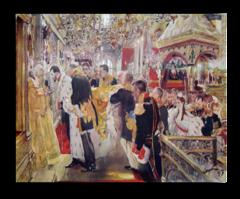 """Репродукция """"Серов - Коронация Николая II. 1899"""""""