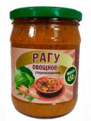 Белорусские консервы рагу овощное 450г. Горынь - купить с доставкой на дом по Москве и области