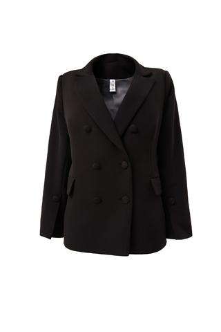 Пиджак двубортный прямого кроя