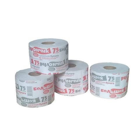 Бумага туалетная Рулончик 1-слойная серая (18 рулонов в упаковке)