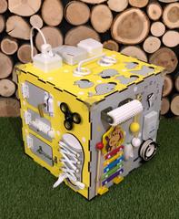 Бизикуб стандарт 30х30 см комплектации желтый