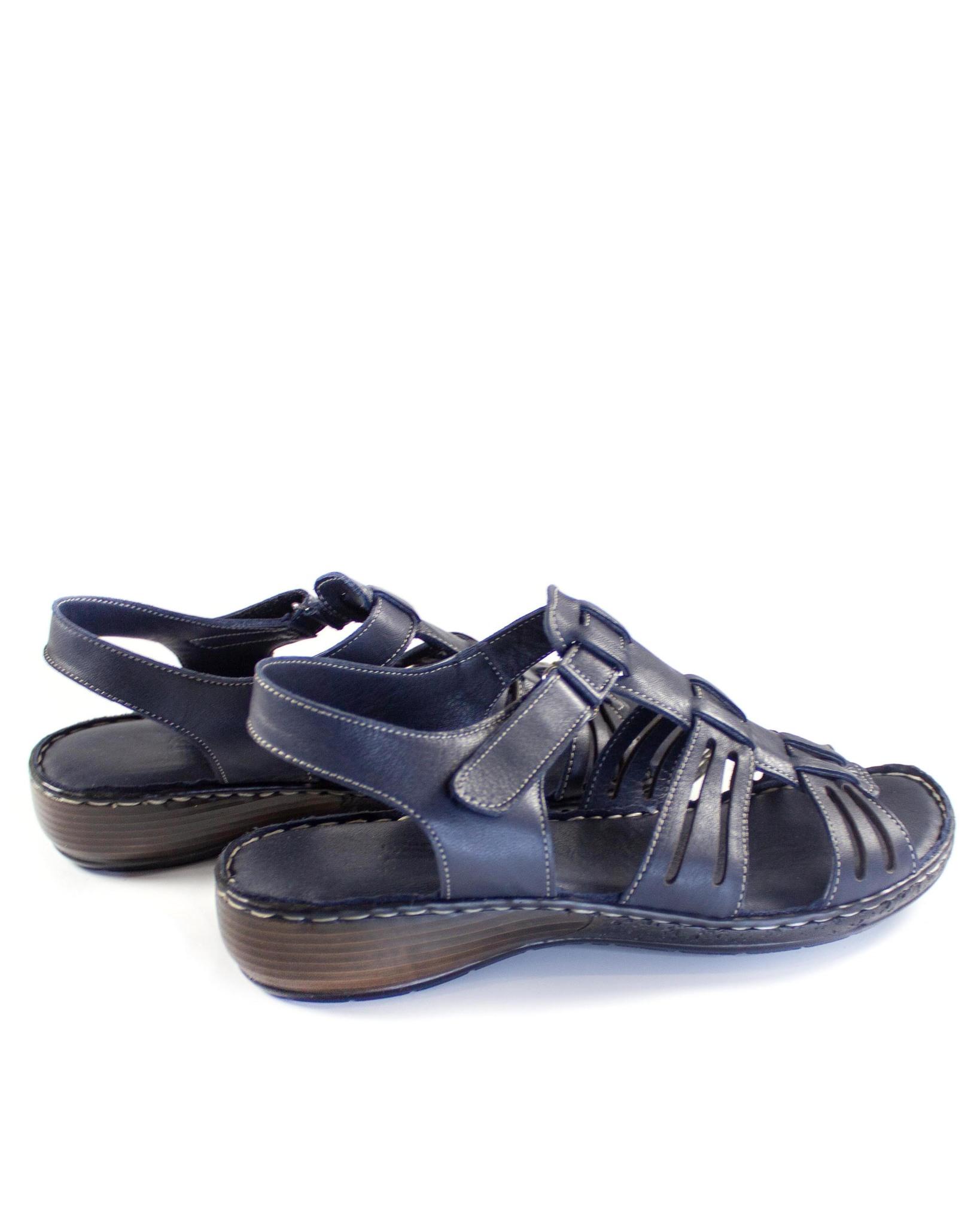 синие сандалии SM