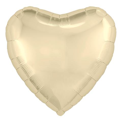 Воздушный шар сердце Шампань, 45 см