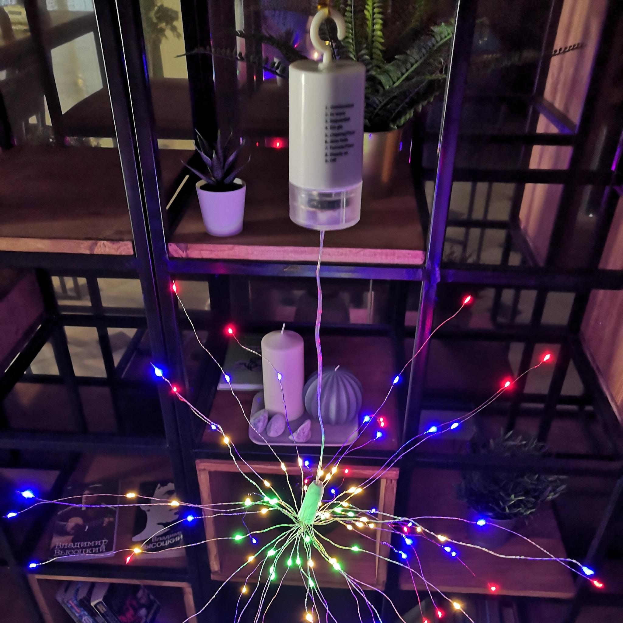 Светильник-фейерверк EPECOLED разноцветный (на батарейках, 120LED)