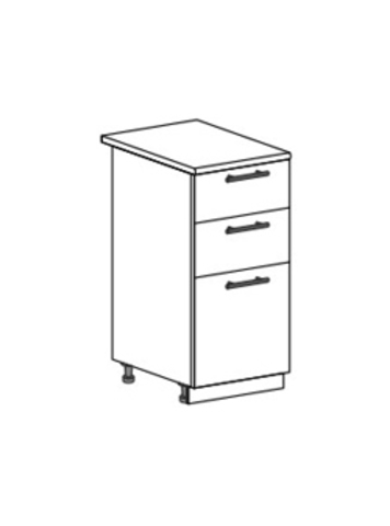 Шкаф нижний с 3 ящиками 400