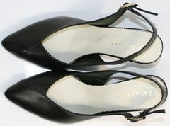 Черные босоножки на низком каблуке Kluchini 5190 Black.