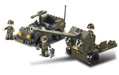 Конструктор серия Армия Зенитное орудие и джип